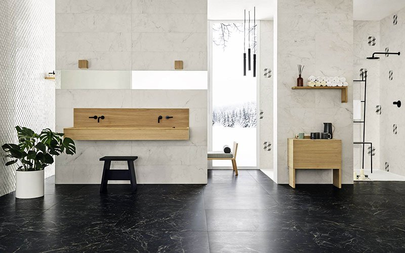Allmarble, a sophisticated interpretation of fine marbles.
